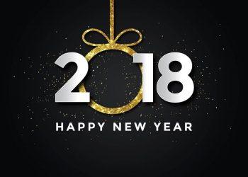 Bild auf dem 2018 und happy new year steht