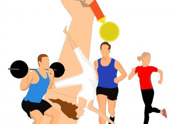 Illustration von Sportlern